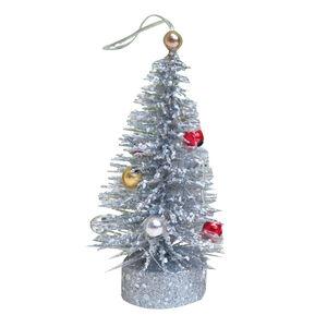 Beaded Glitter Christmas Tree Ornament