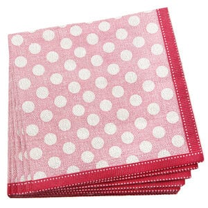 Dotty Napkins 20 Pack - Pink