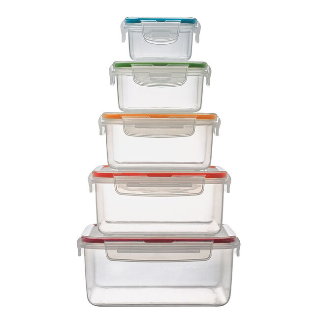 Lock & Lock 5 Piece Nestable Square Containers