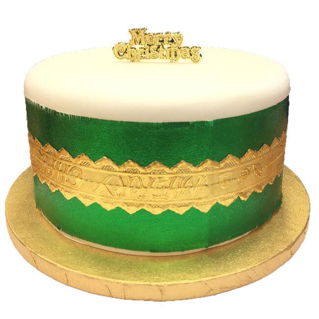 Gold Centre Christmas Cake Frill