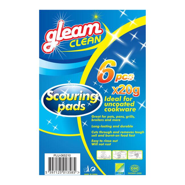 Gleam Clean 6 Scouring Pads