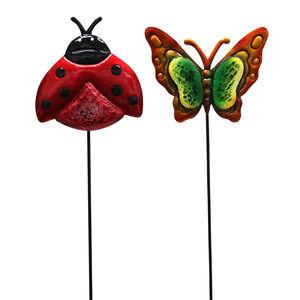 Ladybird/Butterfly Garden Stake