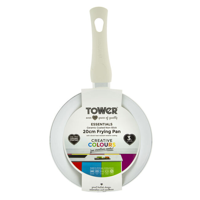 Tower Ceramic Cream Frying Pan 20cm
