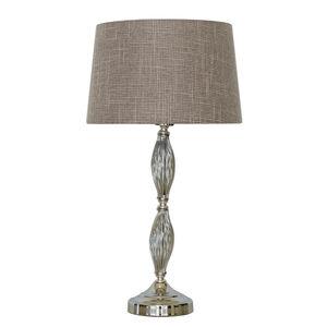 Chrome Swirl Table Lamp