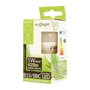 Eco Light 5W Golf Warm White Bulb (B15)