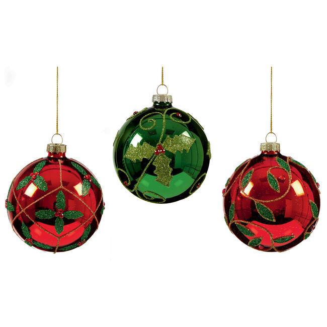 Holly Christmas Tree Decoration
