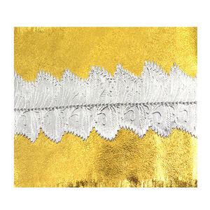 Cake Frills - White, Silver & Gold