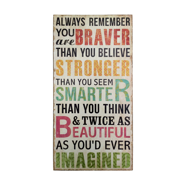Always Remember Wall Art 30cm x 60cm
