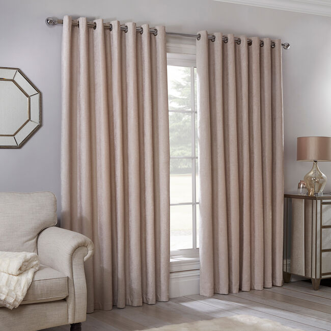 BLACKOUT & THERMAL TEXTURED NATURAL 90X90 Curtain