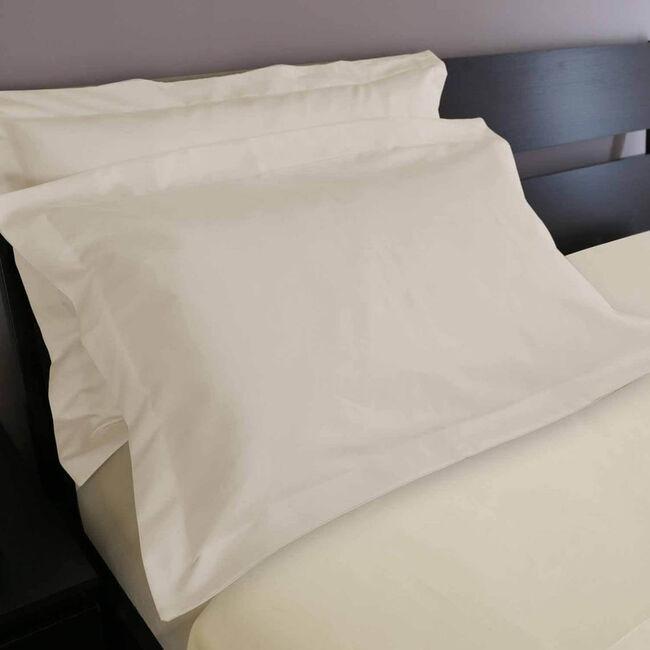 500TC Cotton Oxford Pillowcase Pair - Cream