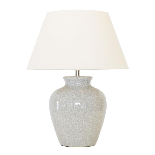 Ivory Crackle Jar Table Lamp