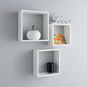 Rook Square Wall Shelf Trio Set