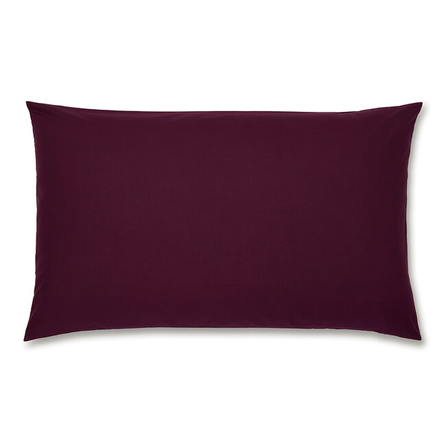 Luxury Percale Housewife Pillowcase Pair - Plum