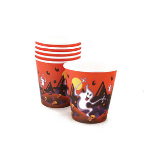 Ghostly Paper Cups 6 Pack