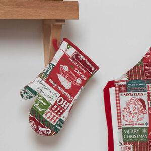 Retro Santa Single Oven Glove