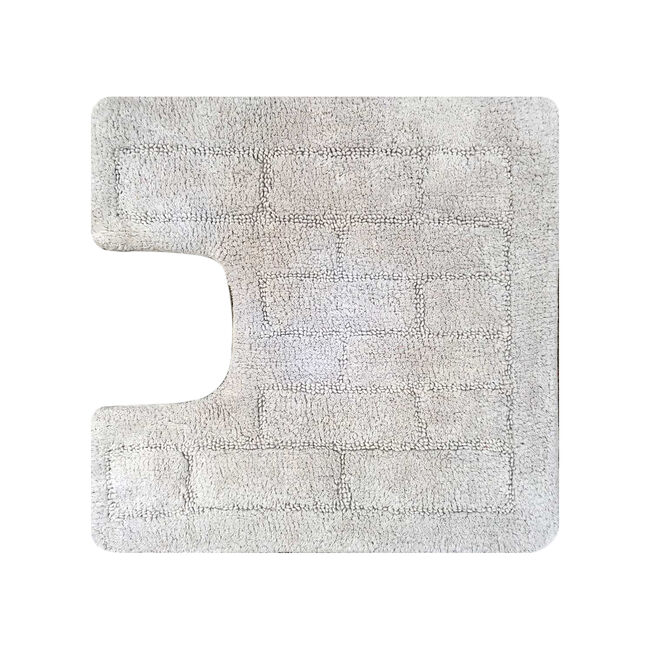 Cotton Brick Dove Grey Pedestal Mat 50cm x 50cm