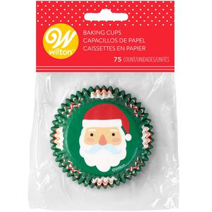 Wilton Santa Claus Cupcake Cases - 75 Pack