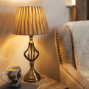 Antique Brass Twists Metal Lamp