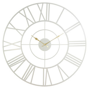 Industrial Clock White/Gold 69CM