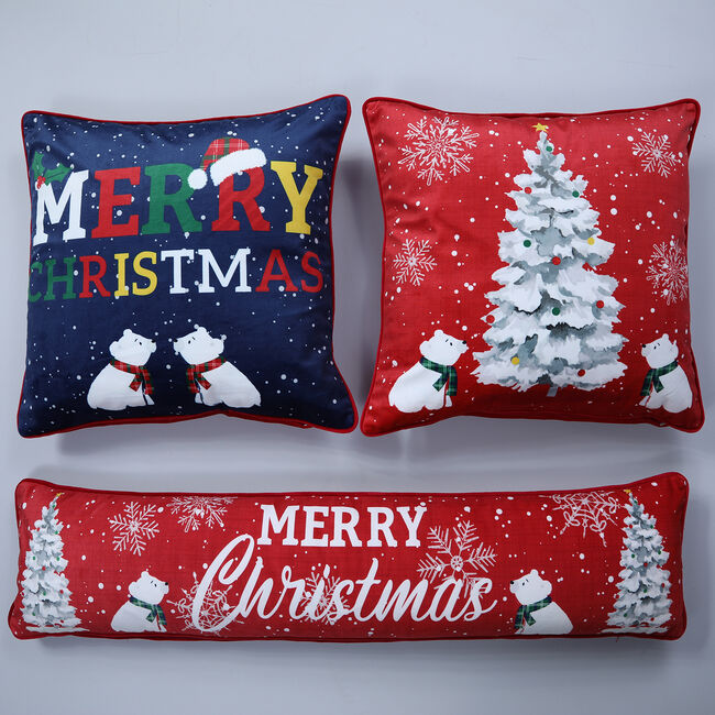 Beary Christmas Draught Excluder - 22x90cm
