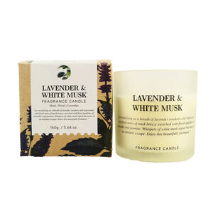 Natural Craft Lavender & White Mush Scented Candle