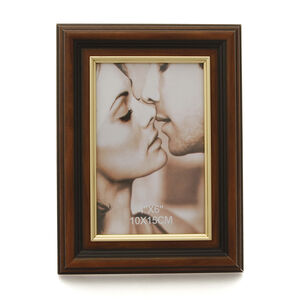 Brown & Gold Photo Frame 6x4""