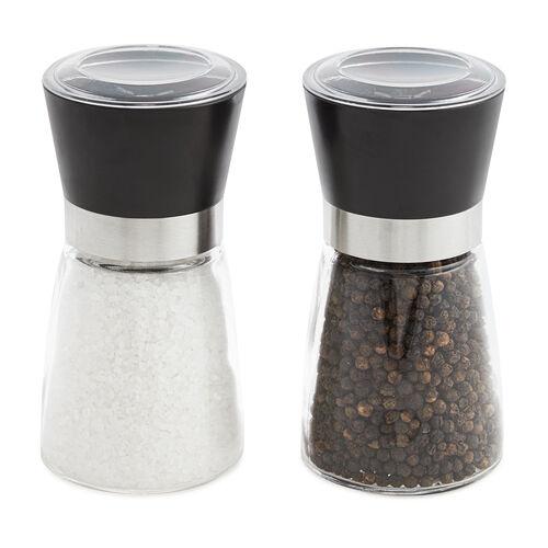 Coarse Salt & Black Peppercorn Mill Set