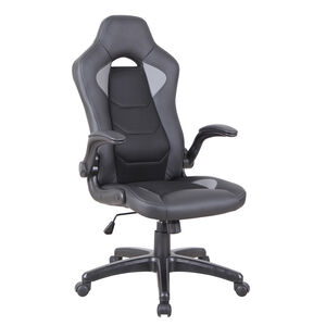 Agge Gamer Office Chair Black with Grey Detail