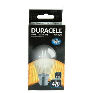 DURACELL B22 LED Bulb 4W (EQ.40W) Clear None Dim