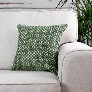 Mairead Diamond Green Cushion 45cm x 45cm