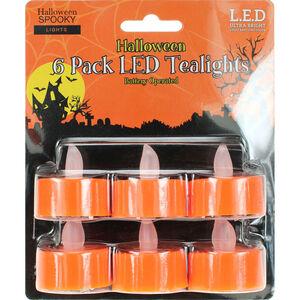 Halloween LED T-Lights 6Pk