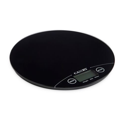 Camry Round Electronic Kitchen Scale - Black