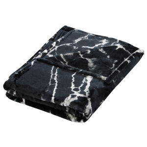 Nicole Day Marble Black Throw