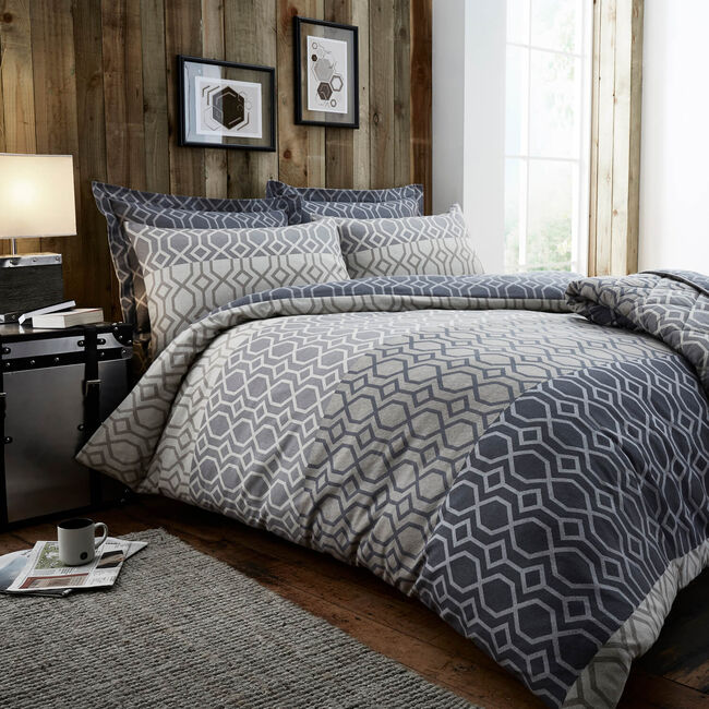 SINGLE DUVET COVER Brushed Cotton Theo