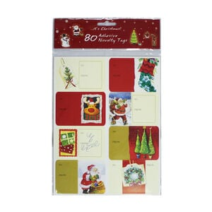 Novelty Adhesive Gift Tags 80Pk