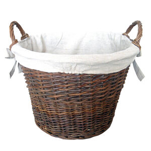 Silverflame Wicker Log Basket 50cm