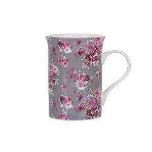 Abney & Croft New Bone Floral Mug - Grey