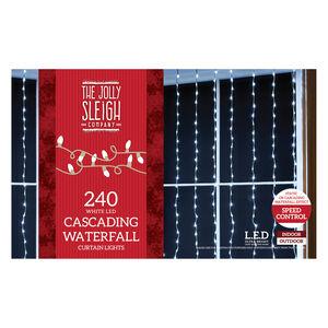 240 White LED Waterfall Curtain