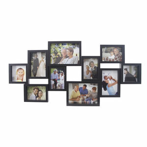 Black 10 Window Photo Frame