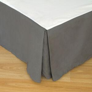 SINGLE BASE VALANCE 200 Threadcount Cotton Grey