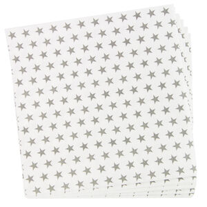 Stars Silver Napkins 20 pack