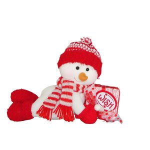Lying Snowman With Scarf