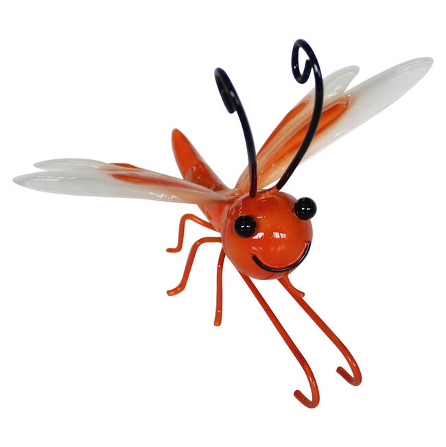 Dragonfly Plant Pot Decoration - Orange