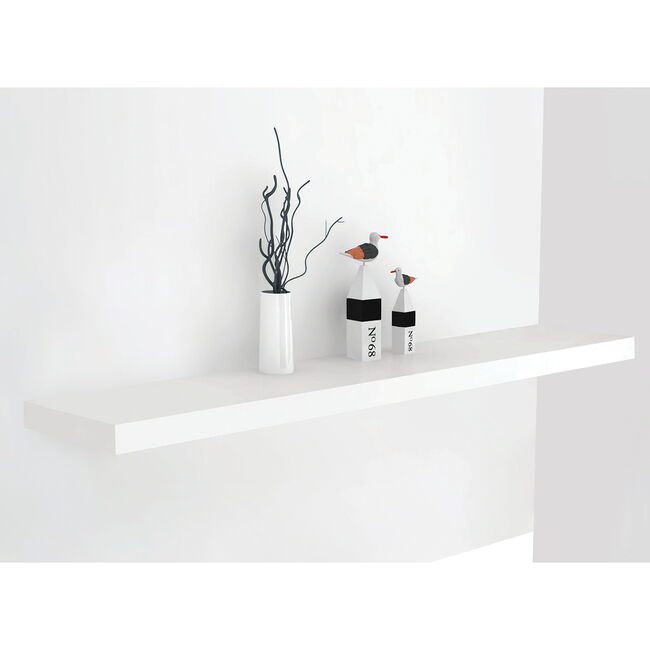 Bergen 120cm White Floating Shelf