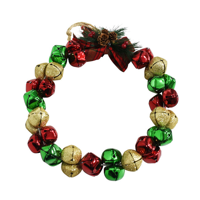 Christmas Bells Wreath - 10""