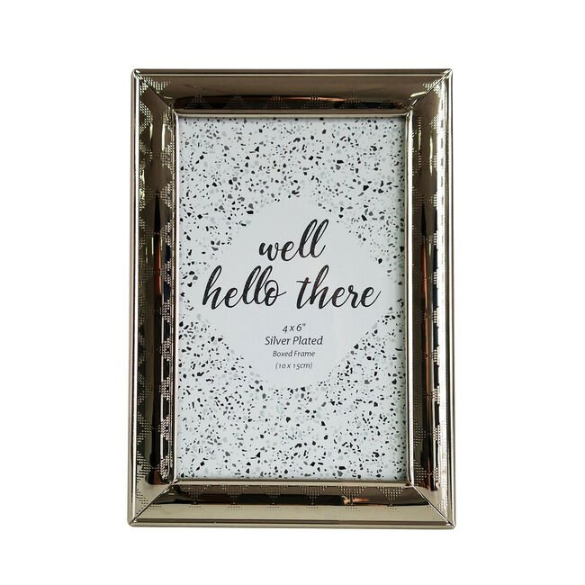 Silver Plated Boxed Frame 4x6""