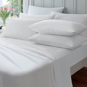 Flannelette Housewife Pillowcases White