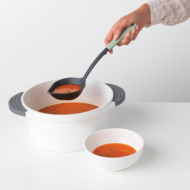 Brabantia Soup Ladle plus Scraper - Jade Green