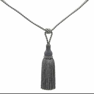 Elegance Medium Rope Charcoal Tieback