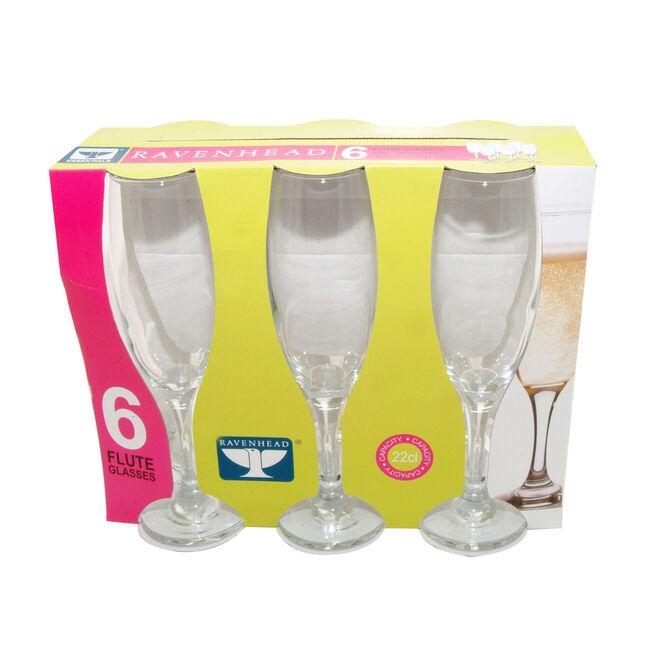 Essentials Flute Glasses 6 Pack